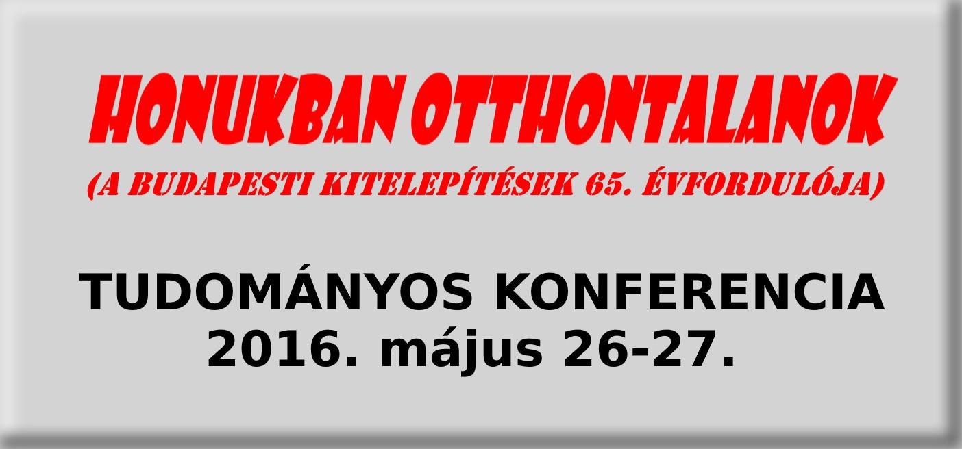 Tudományos konferencia 2016.05.26-27.