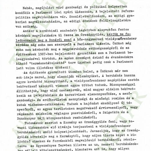 TILTAKOZÓ LEVÉL