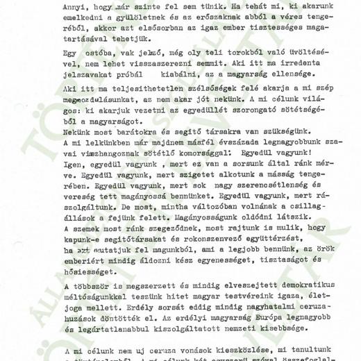 Csurka István ünnepi beszéde (felolvasta Bubik István)