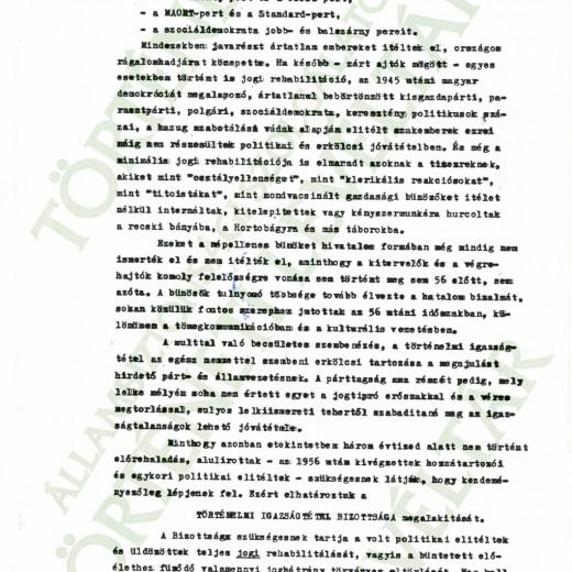 TIB felhívása, 1988. június 5.
